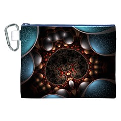 Pattern Fractal Abstract 3840x2400 Canvas Cosmetic Bag (xxl) by amphoto