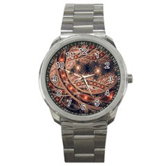 Fractal Patterns Abstract  Sport Metal Watch by amphoto