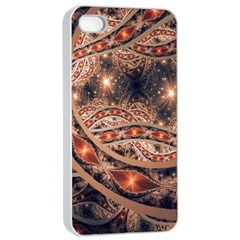 Fractal Patterns Abstract  Apple Iphone 4/4s Seamless Case (white) by amphoto