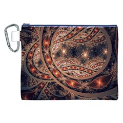 Fractal Patterns Abstract  Canvas Cosmetic Bag (xxl) by amphoto