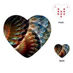 Fractal Patterns Abstract 3840x2400 Playing Cards (heart)  by amphoto