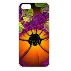 Patterns Lines Purple  Apple Iphone 5 Seamless Case (white) by amphoto