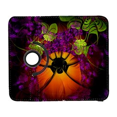 Patterns Lines Purple  Galaxy S3 (flip/folio) by amphoto