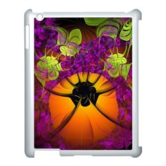 Patterns Lines Purple  Apple Ipad 3/4 Case (white) by amphoto