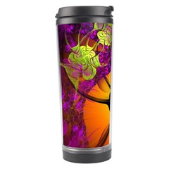 Patterns Lines Purple  Travel Tumbler by amphoto