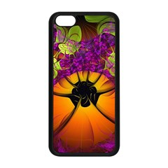 Patterns Lines Purple  Apple Iphone 5c Seamless Case (black) by amphoto