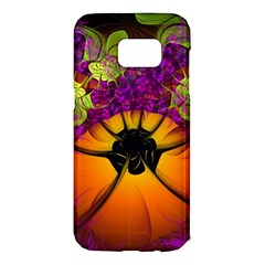 Patterns Lines Purple  Samsung Galaxy S7 Edge Hardshell Case by amphoto