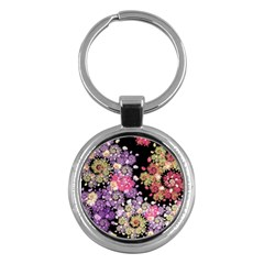 Abstract Patterns Fractal  Key Chains (round)  by amphoto