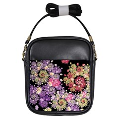 Abstract Patterns Fractal  Girls Sling Bags by amphoto