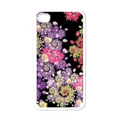 Abstract Patterns Fractal  Apple Iphone 4 Case (white) by amphoto