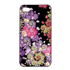 Abstract Patterns Fractal  Apple Iphone 4/4s Seamless Case (black) by amphoto