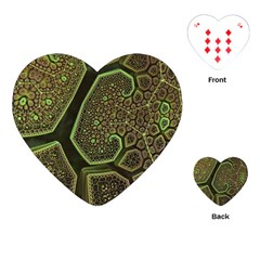 Fractal Weave Shape  Playing Cards (heart)  by amphoto