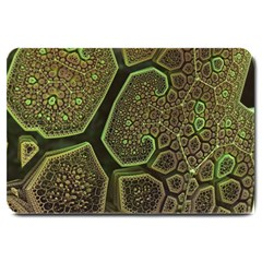 Fractal Weave Shape  Large Doormat  by amphoto