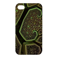 Fractal Weave Shape  Apple Iphone 4/4s Premium Hardshell Case by amphoto