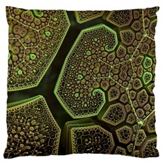 Fractal Weave Shape  Large Flano Cushion Case (one Side) by amphoto