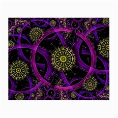 Fractal Neon Rings  Small Glasses Cloth (2 Side) by amphoto