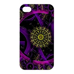 Fractal Neon Rings  Apple Iphone 4/4s Premium Hardshell Case by amphoto