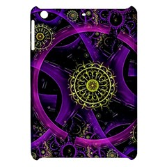 Fractal Neon Rings  Apple Ipad Mini Hardshell Case by amphoto