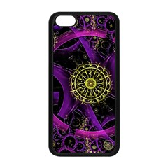 Fractal Neon Rings  Apple Iphone 5c Seamless Case (black) by amphoto