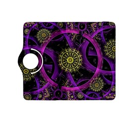 Fractal Neon Rings  Kindle Fire Hdx 8 9  Flip 360 Case by amphoto