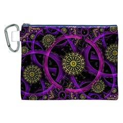 Fractal Neon Rings  Canvas Cosmetic Bag (xxl) by amphoto