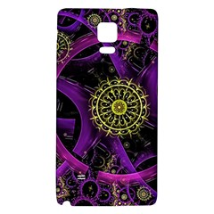 Fractal Neon Rings  Galaxy Note 4 Back Case by amphoto