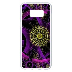 Fractal Neon Rings  Samsung Galaxy S8 Plus White Seamless Case by amphoto