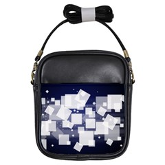 Squares Shapes Many  Girls Sling Bags by amphoto