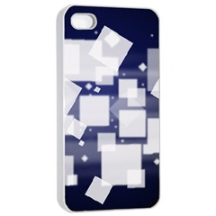 Squares Shapes Many  Apple Iphone 4/4s Seamless Case (white) by amphoto