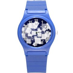 Squares Shapes Many  Round Plastic Sport Watch (s) by amphoto