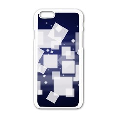 Squares Shapes Many  Apple Iphone 6/6s White Enamel Case by amphoto