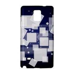 Squares Shapes Many  Samsung Galaxy Note 4 Hardshell Case by amphoto
