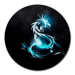 Dragon Classical Light  Round Mousepads by amphoto
