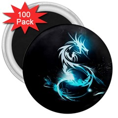 Dragon Classical Light  3  Magnets (100 Pack) by amphoto