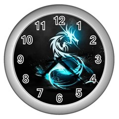 Dragon Classical Light  Wall Clocks (silver)  by amphoto