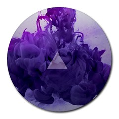 Smoke Triangle Lilac  Round Mousepads by amphoto