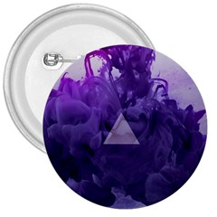 Smoke Triangle Lilac  3  Buttons by amphoto