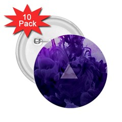 Smoke Triangle Lilac  2 25  Buttons (10 Pack)  by amphoto