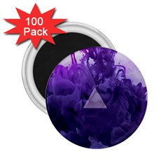 Smoke Triangle Lilac  2 25  Magnets (100 Pack)  by amphoto