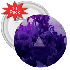 Smoke Triangle Lilac  3  Buttons (10 Pack)  by amphoto
