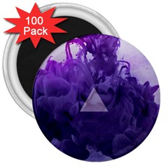 Smoke Triangle Lilac  3  Magnets (100 Pack) by amphoto