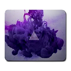 Smoke Triangle Lilac  Large Mousepads by amphoto
