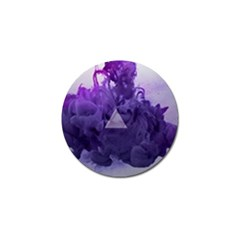 Smoke Triangle Lilac  Golf Ball Marker (10 Pack) by amphoto