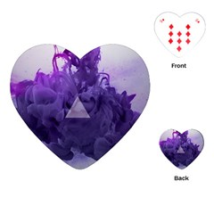 Smoke Triangle Lilac  Playing Cards (heart)  by amphoto