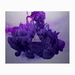 Smoke Triangle Lilac  Small Glasses Cloth (2 Side) by amphoto
