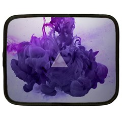 Smoke Triangle Lilac  Netbook Case (large) by amphoto