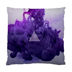 Smoke Triangle Lilac  Standard Cushion Case (one Side) by amphoto