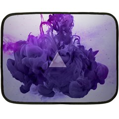 Smoke Triangle Lilac  Fleece Blanket (mini) by amphoto