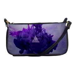 Smoke Triangle Lilac  Shoulder Clutch Bags by amphoto
