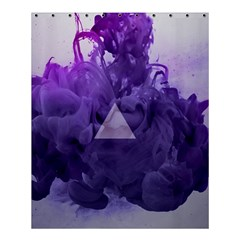 Smoke Triangle Lilac  Shower Curtain 60  X 72  (medium)  by amphoto